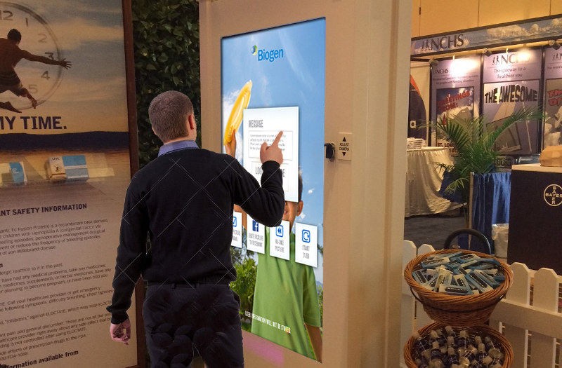 vertical interactive kiosk